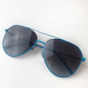 Diff Eyewear Dash Neón Blue Aviators Sunglasses
